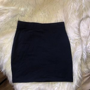 H&M navy bodycon mini skirt